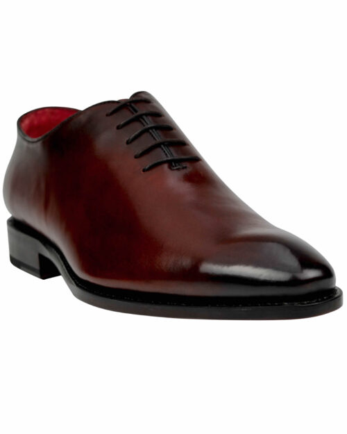 Goodyear Welted Burnished Brown Calf leather lace up shoes