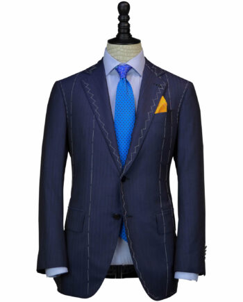 Handcrafted Royal Blue Exclusive 14 Micron fabrics Suits