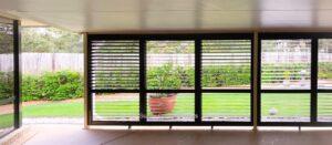 plantation shutters exterior black aluminium