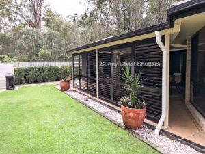 Exterior plantation shutter aluminium