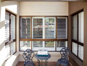 out door view of shutters