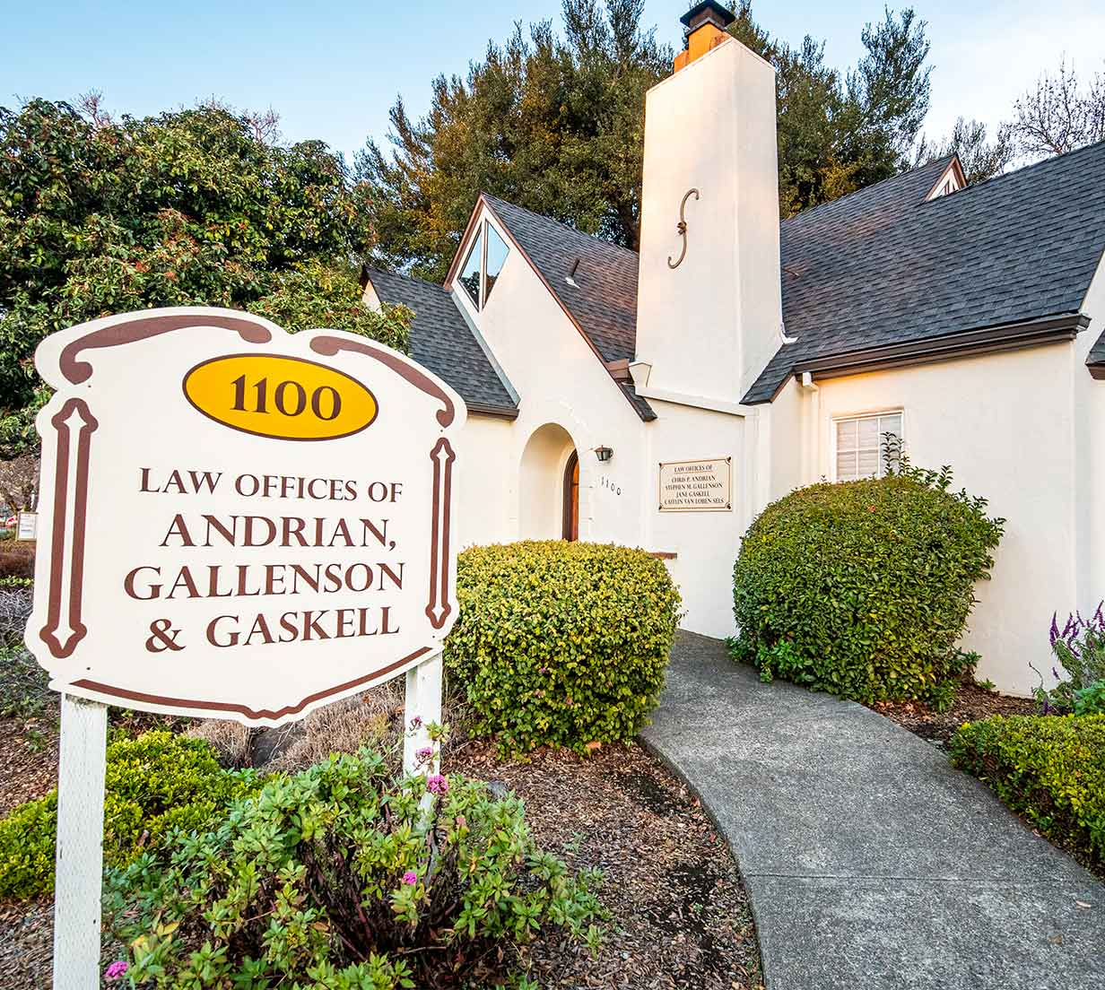 An outside images of the law offices of Andrian, Gallenson & Gaskell