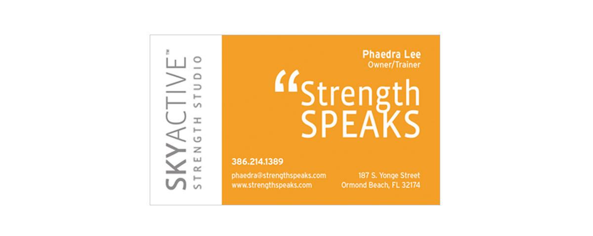 SkyActive Strength Studio Business Card