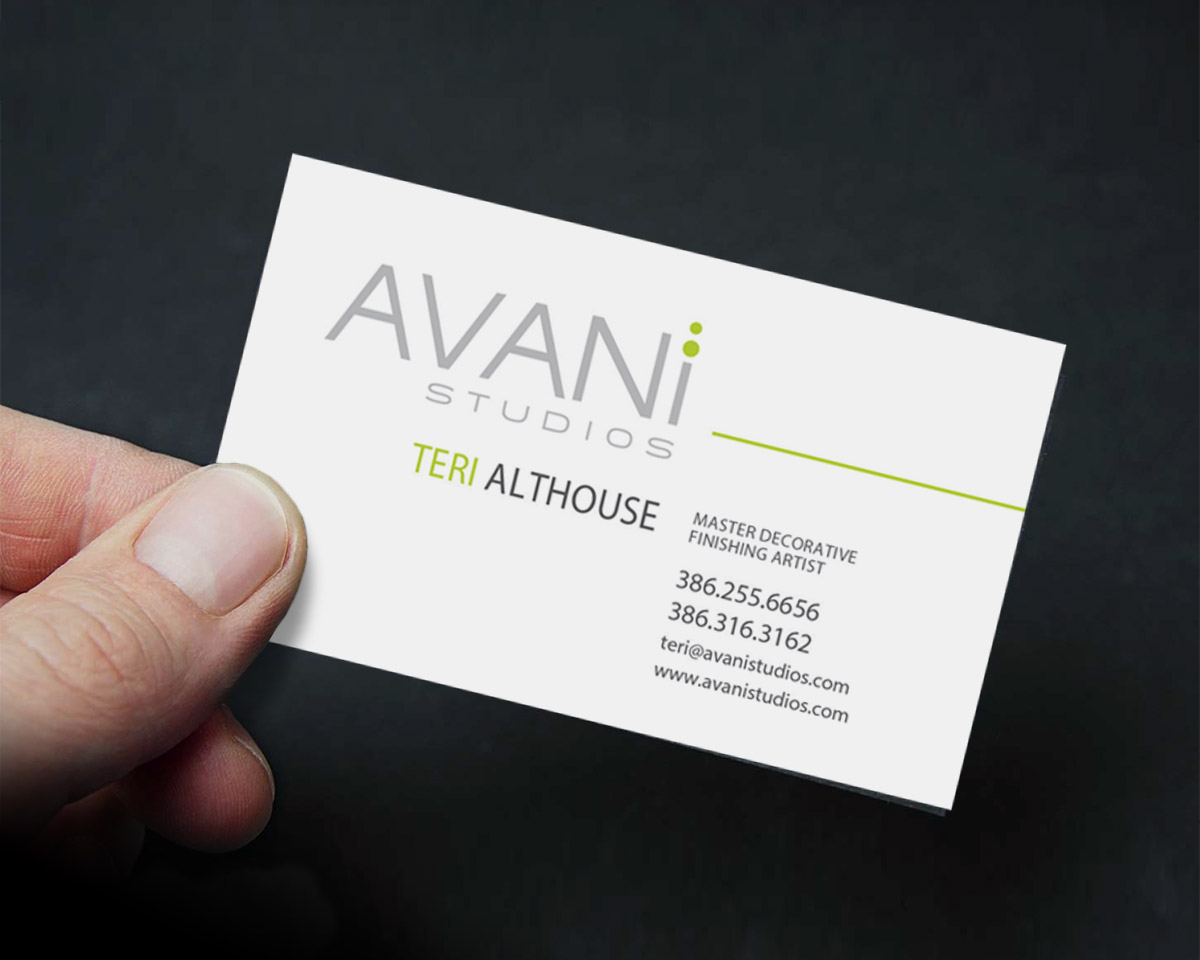 avani studios business card by digital art concepts