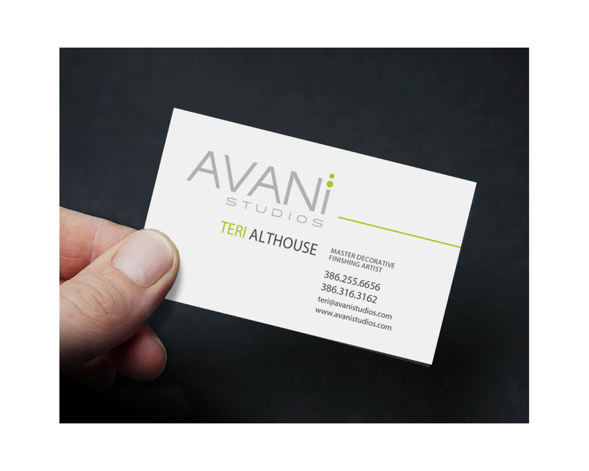 avani studios business card by digital art concepts