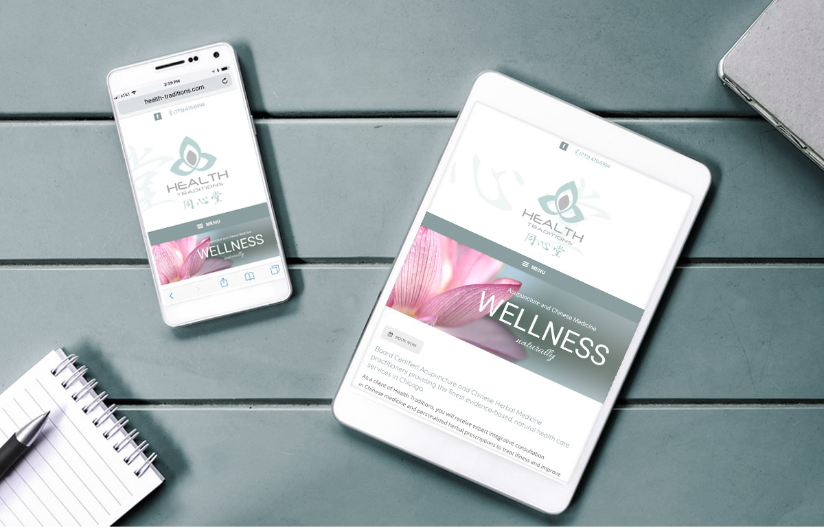 website design for health traditions acupuncture and chinese medicine by maureen jarrell digital art concepts