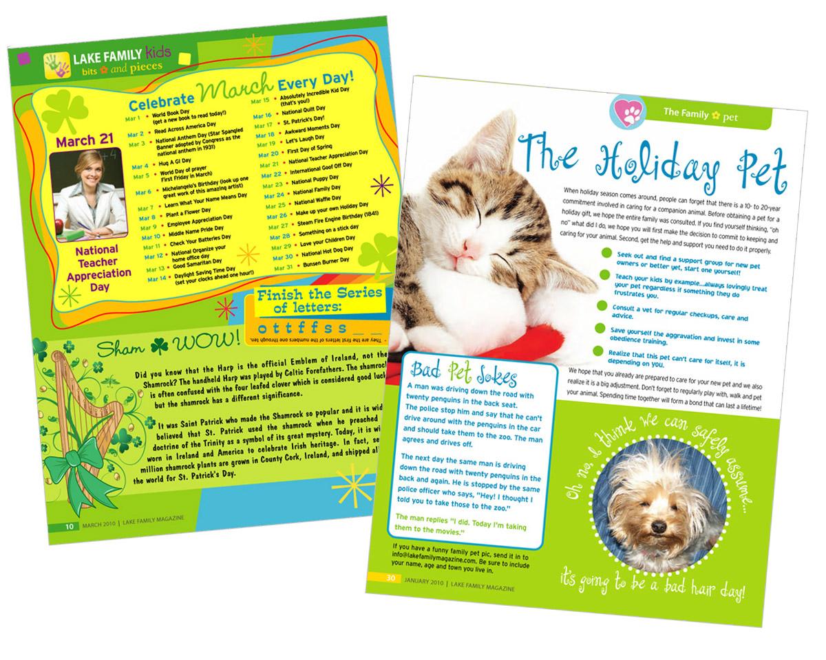kids magazine page layout graphic design maureen jarrell
