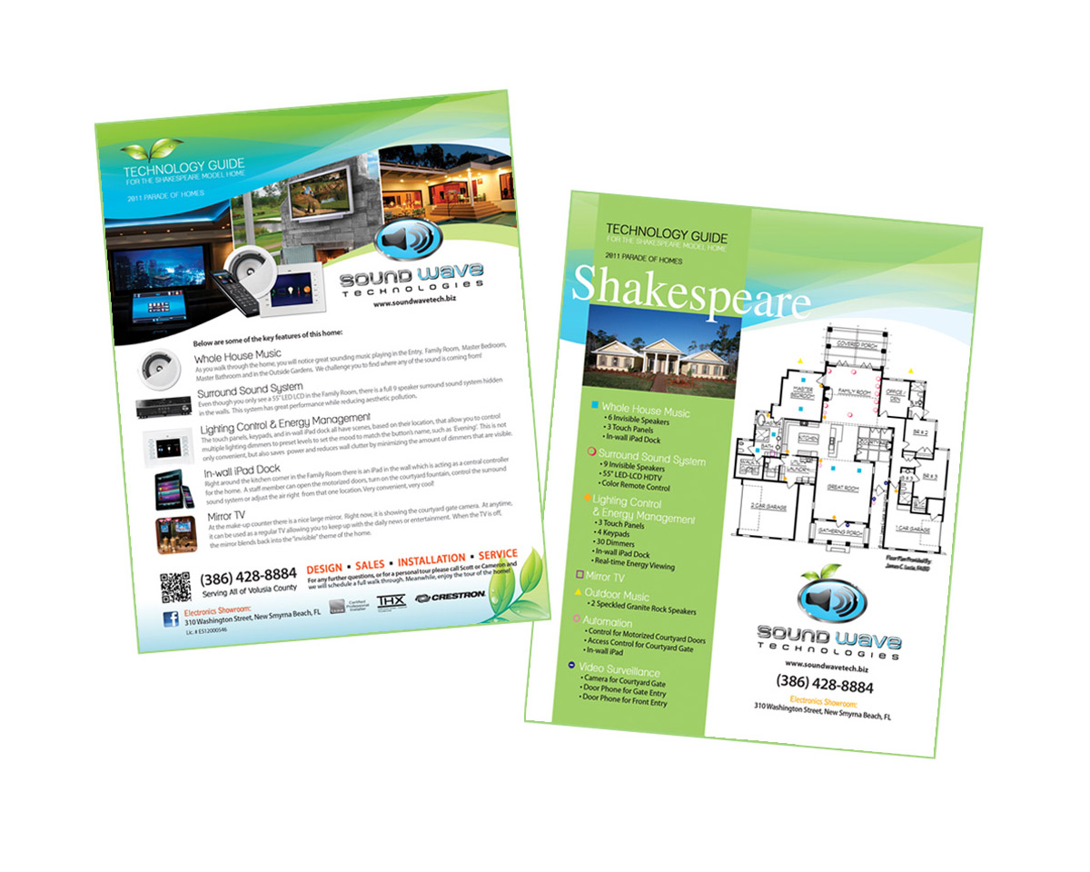 smart home promotional product flyer by maureen jarrell