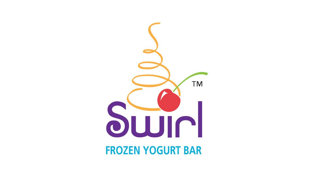 swirl frozen yogurt logo