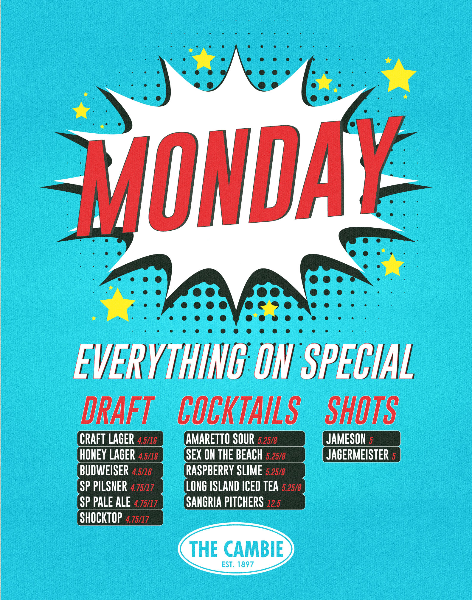 Monday-Specials - The Cambie Bar