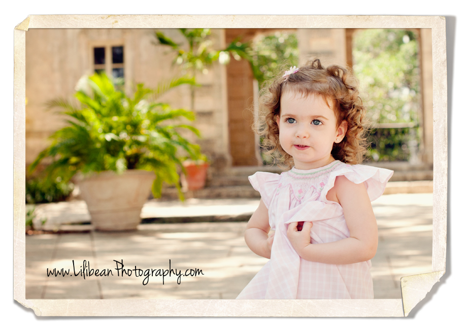 Emma at Vizcaya in South Florida during her Professional Photo Session