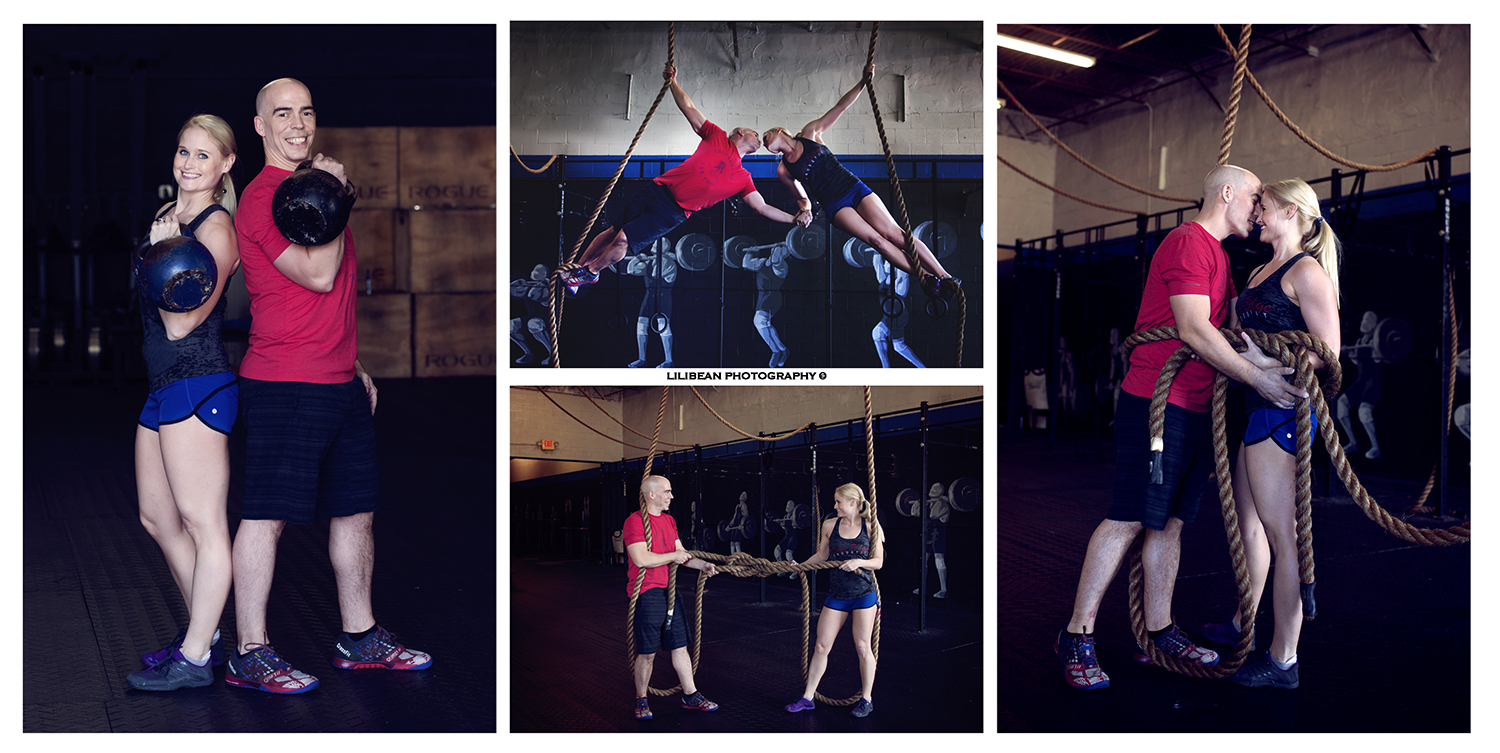 Crossfit Couple Engagement Session Miami South Florida Photographer Wod Ropes Tying the Knot