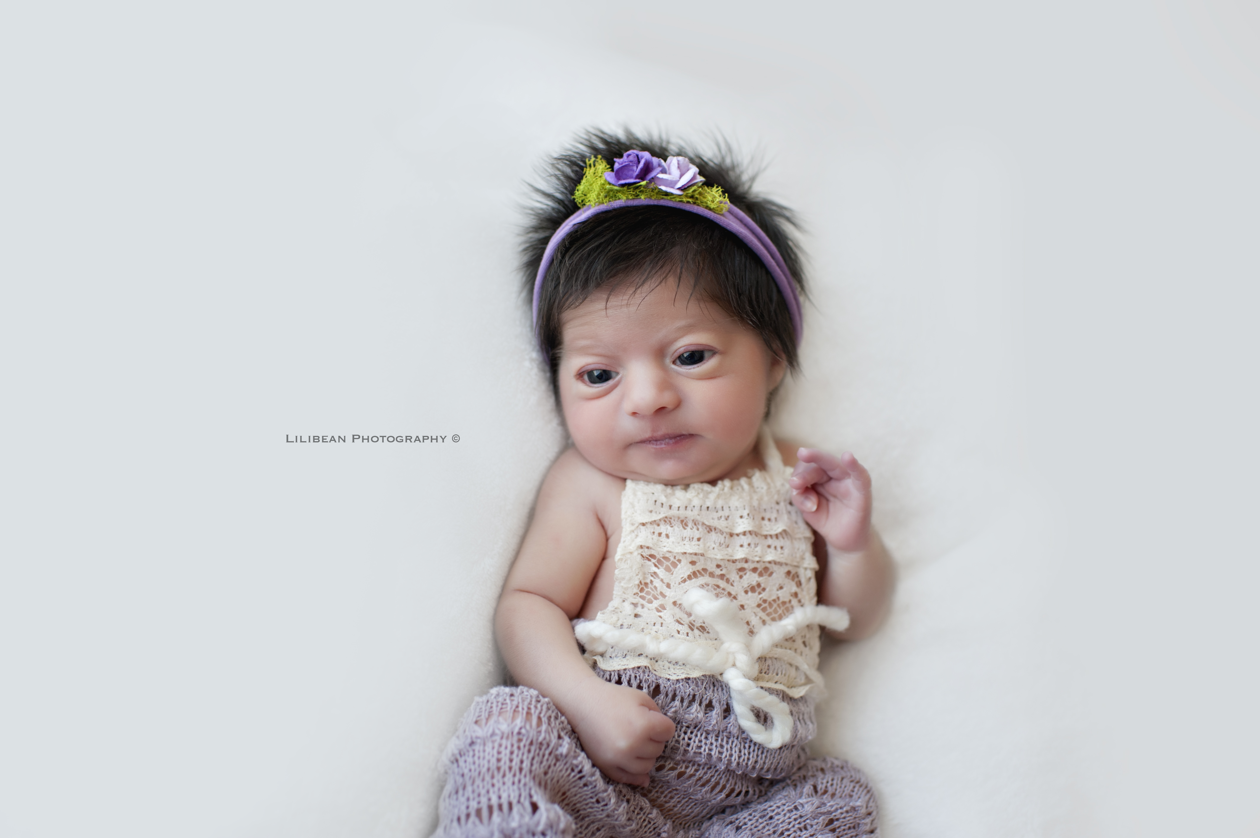 baby girl purple lavendar headband etsy outfit lace south florida newborn photography baby photos