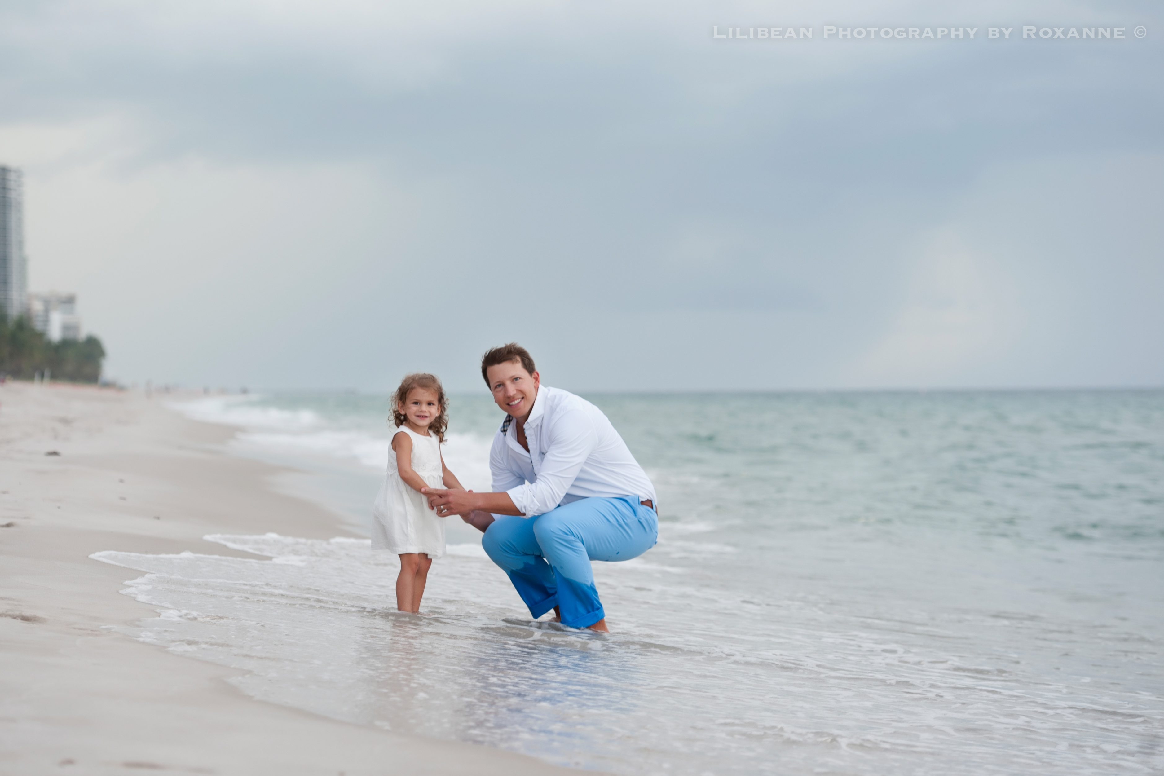 1Daddy and Me Broward Photographer Aventura Sunny Isles Session Beach Family Lilibean Photography by Roxanne
