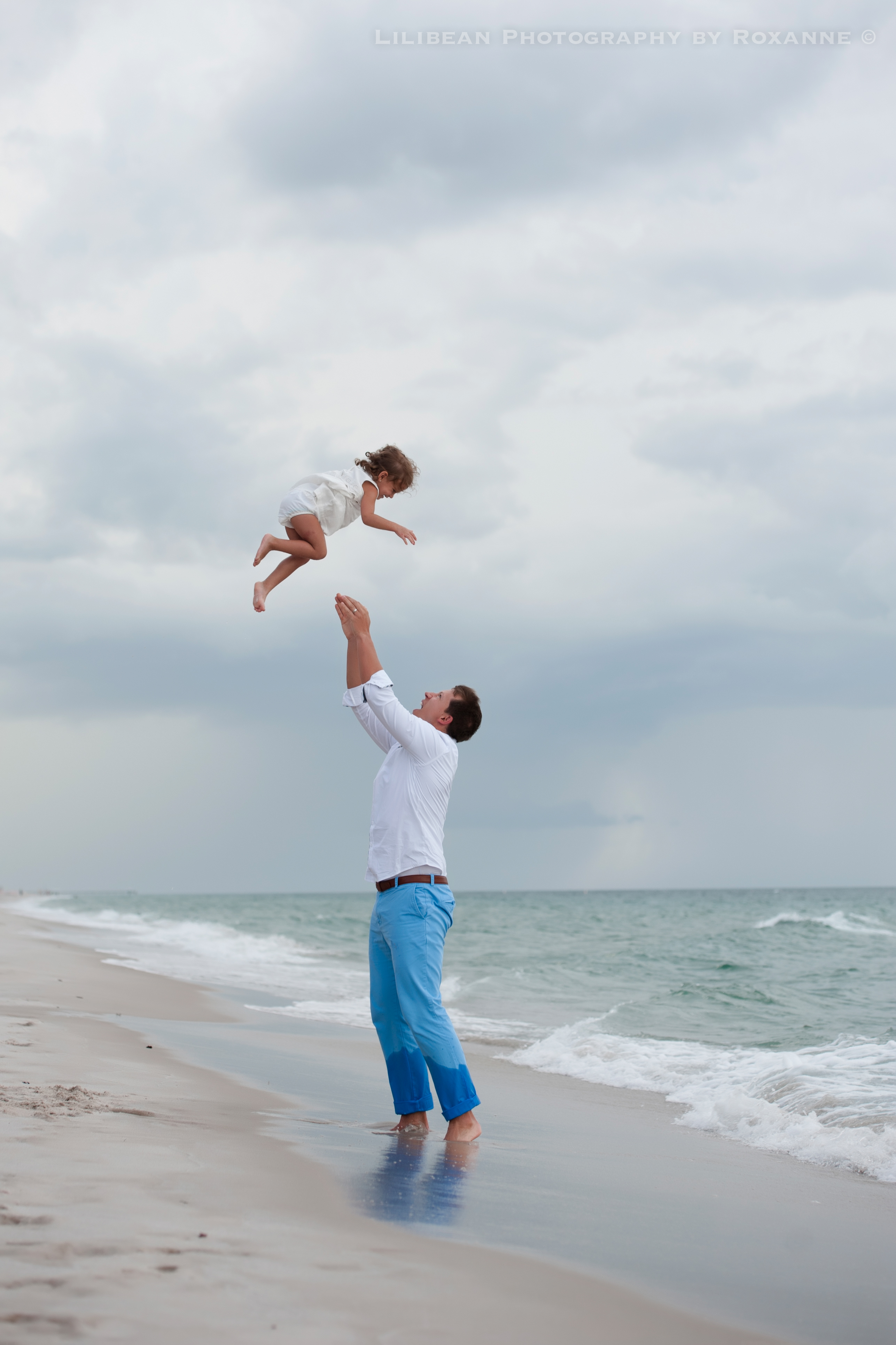 6Daddy and Me Broward Photographer Aventura Sunny Isles Session Beach Family Lilibean Photography by Roxanne