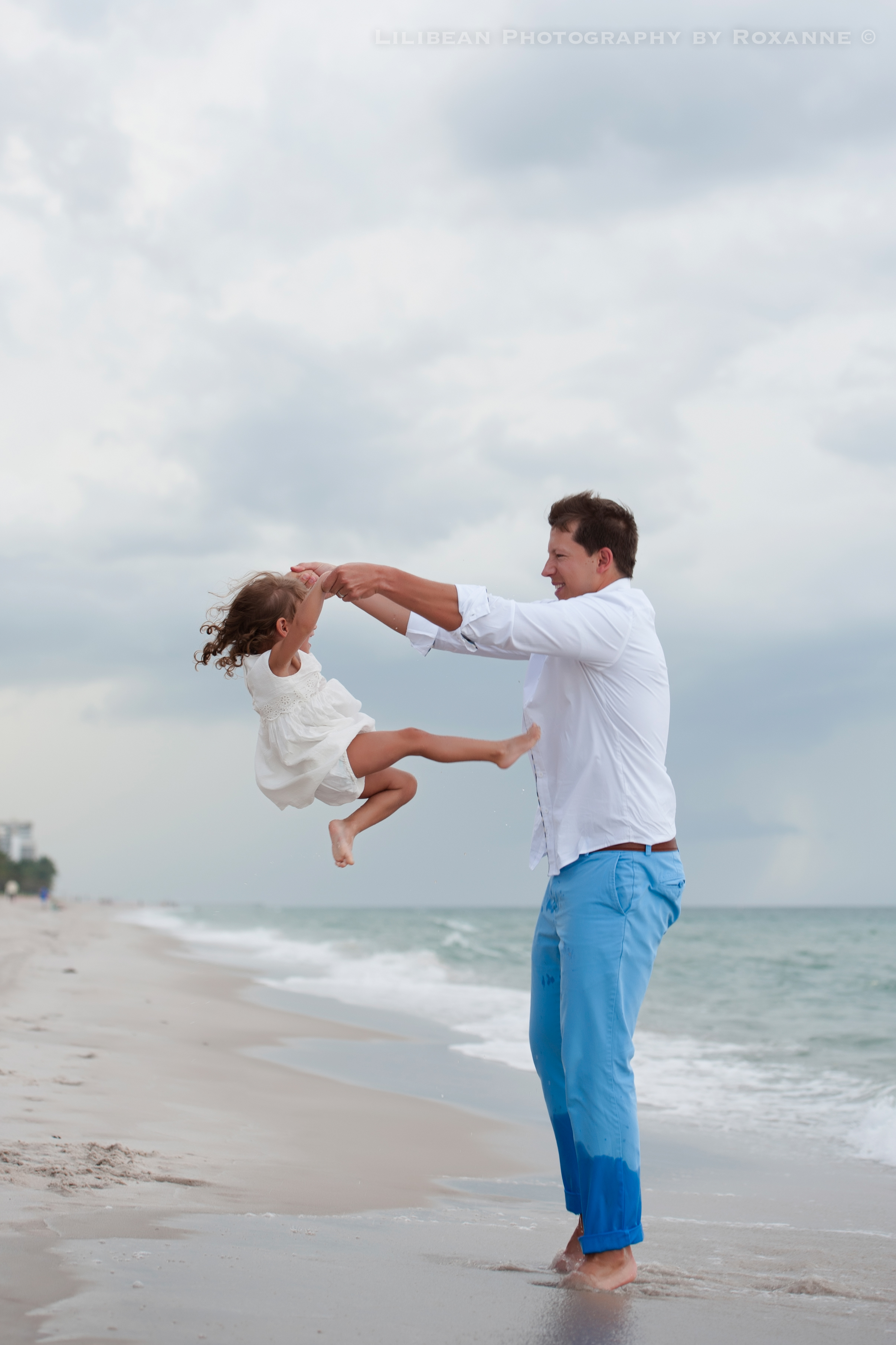 7Daddy and Me Broward Photographer Aventura Sunny Isles Session Beach Family Lilibean Photography by Roxanne
