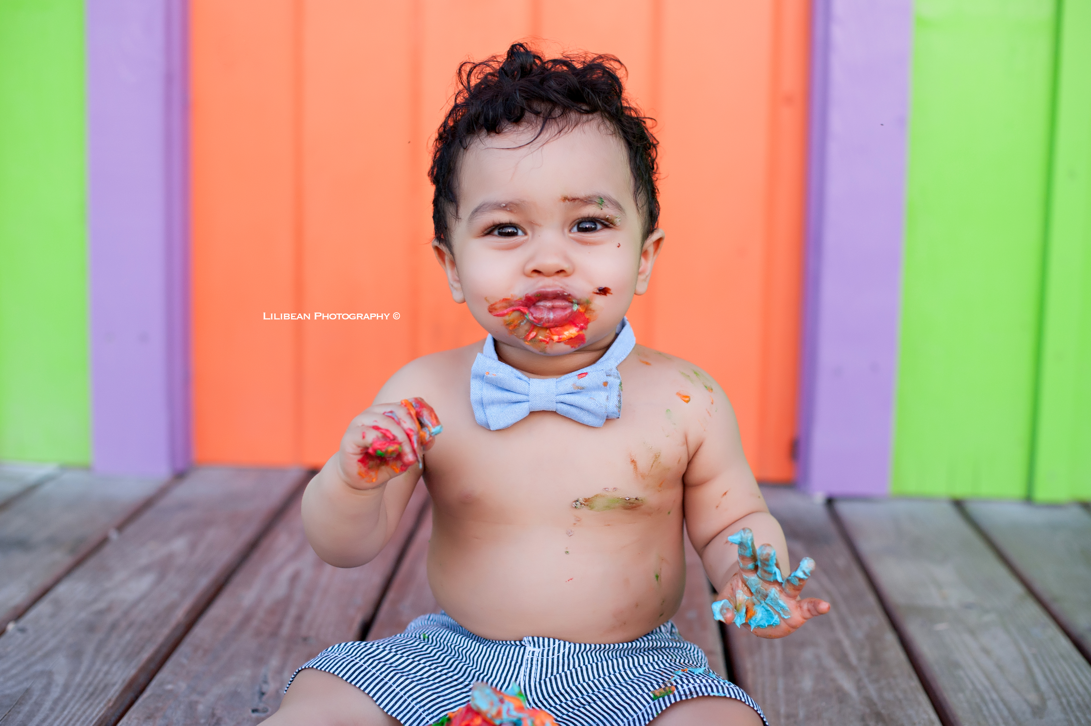 Cake Smash Session Key Biscayne South Florida Children Photographer Newborn Maternity Shoot Aventura Sunny Isles Plantation