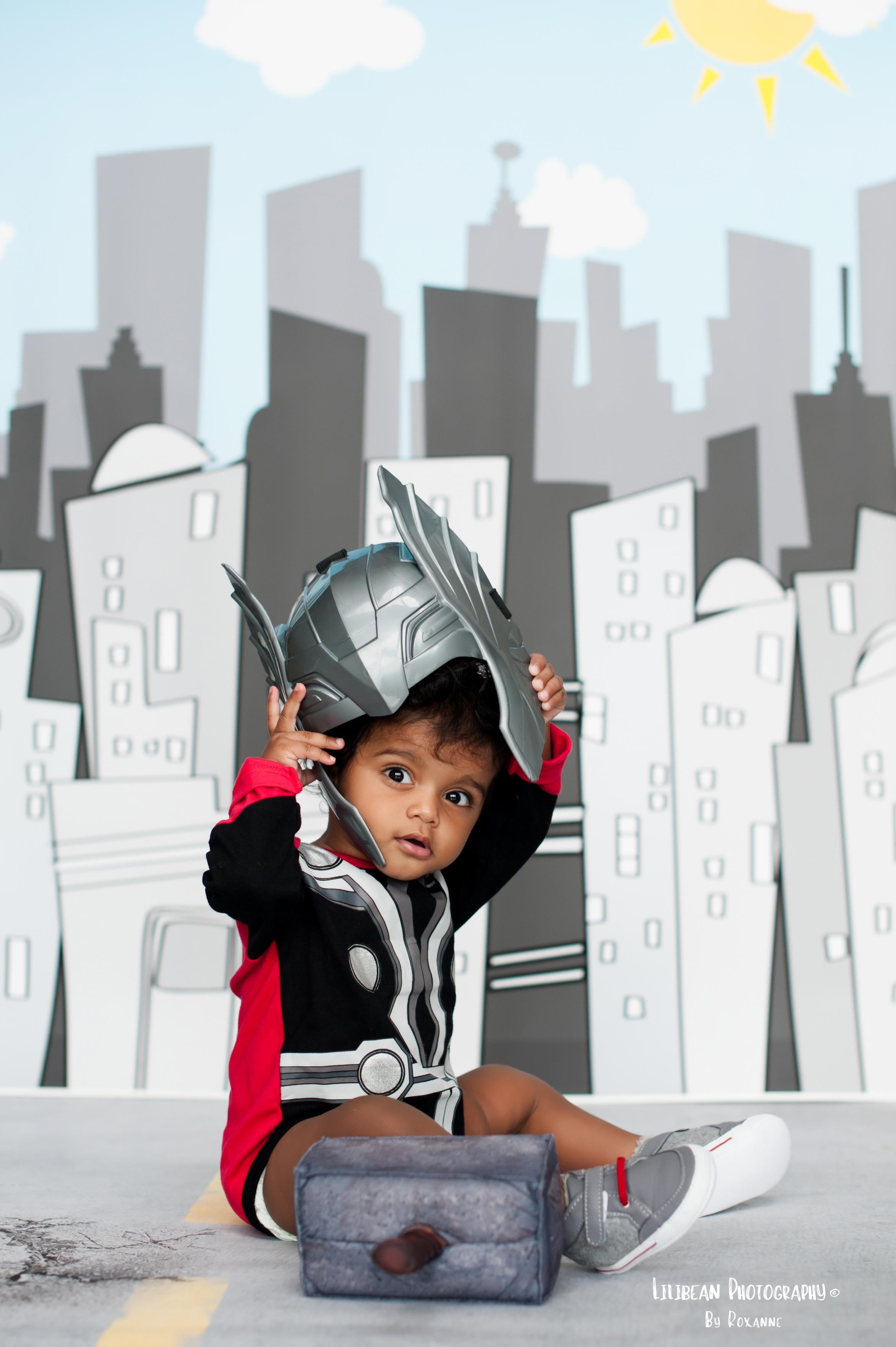 Thor Superhero Halloween Birthday Session