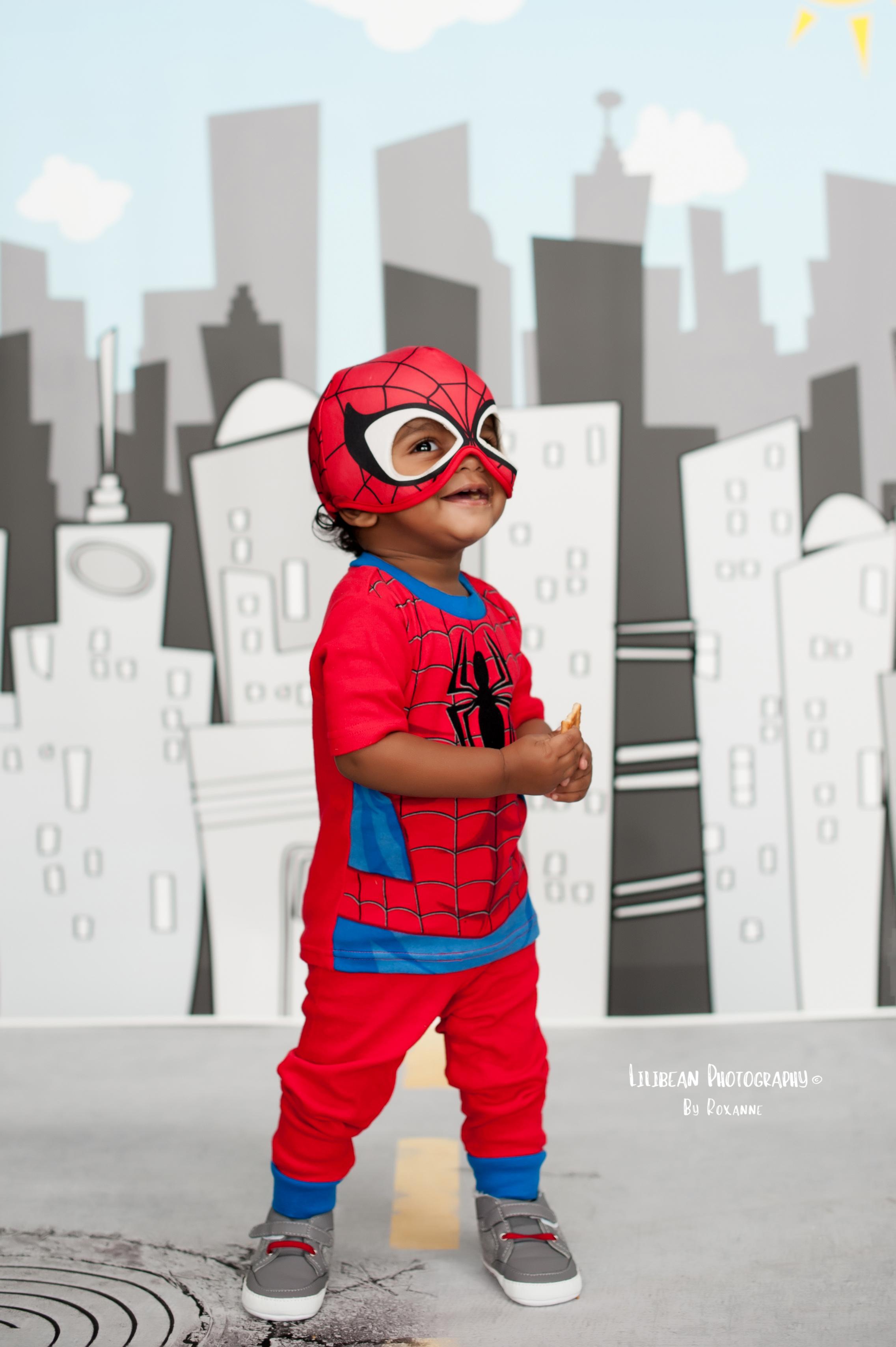Halloween Mini Session Superhero Spiderman