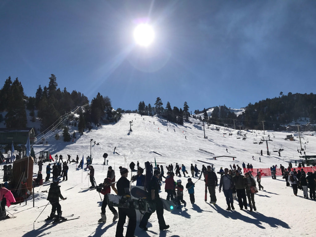 The slopes are only 3-5 min. away