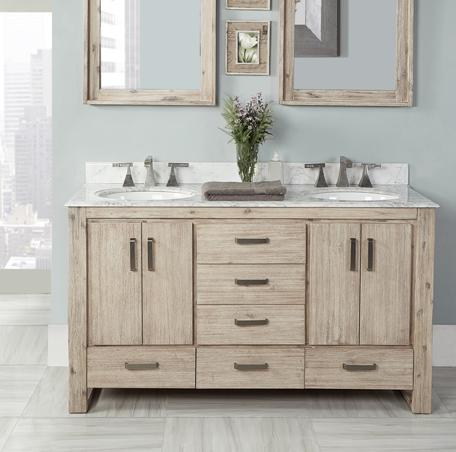 Fairmont Oasis 60″ Double Bowl Bathroom Vanity
