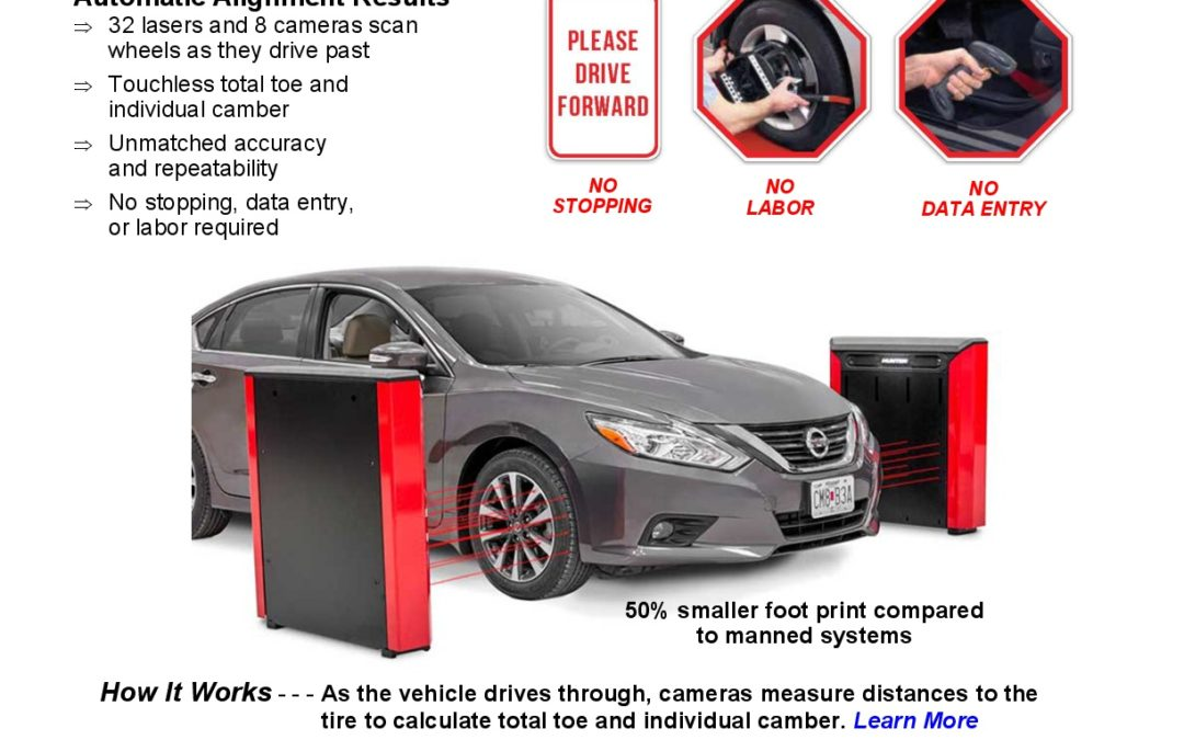 NEW Hunter Quick Check Drive Touchless Alignment Inspection System