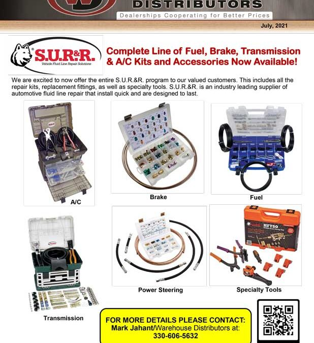 Complete Line of Fuel, Brake, Transmission & A/C Kits and Accessories Now Available!