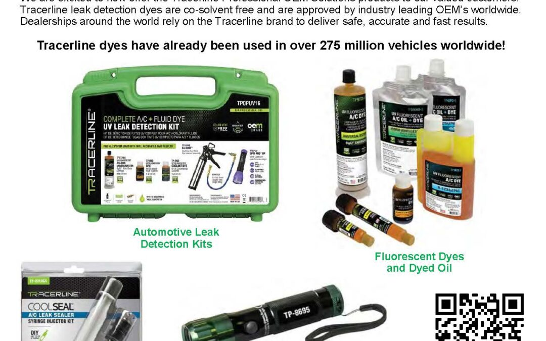 Tracer Products Complete Line of Automotive Leak Detection Products Now Available!
