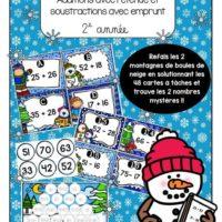 Atelier-Hiver-math-2e-année-additions-avec-retenue-et-soustraction-emprunt-images-page-1