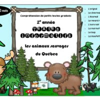 compréhension-de-textes-gradués-animaux-sauvages-québec-2e-année-page-1
