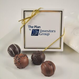 4 Pc. Corporate Logo Truffle Favour Box