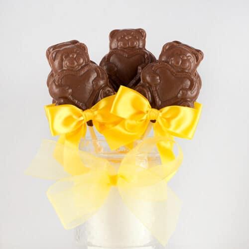 Chocolate Teddy Bear Lollies