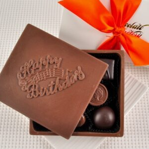 "Chocolate ""Happy Birthday"" Greeting Card Box"