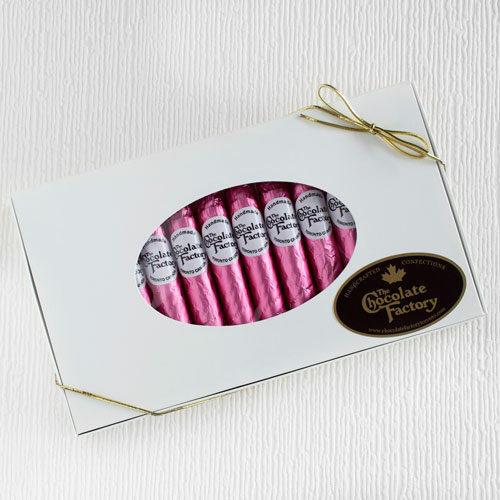 Chocolate Cigars wrapped in pink foil