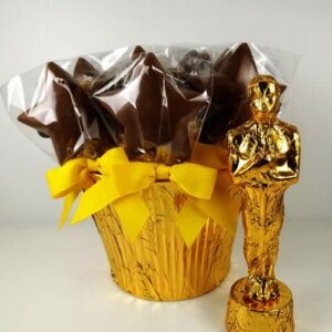 Chocolate Gold Statue and Star Lollies
