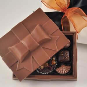 Large Chocolate Bow Box