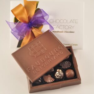 Customized Large Chocolate Corporate Logo Box
