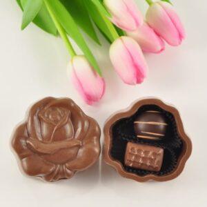 Chocolate  Open Rose Box