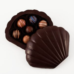 Dark Chocolate Seashell Box