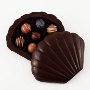 Dark Chocolate Seashell Box