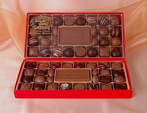 Chocolate Seasons Greeting Card Box