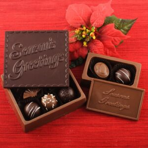 Chocolate Greeting Card Gift Boxes