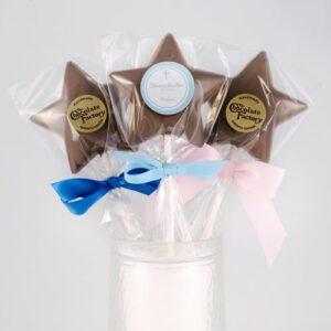 Chocolate Star Lollies