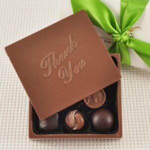 "Chocolate ""Thank You"" Greeting Card Box"