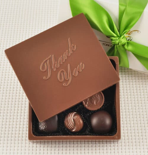 Chocolate Thank you Greeting card Box