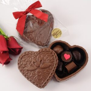 Chocolate Swan Heart Box