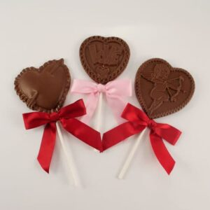 Chocolate Valentine Lollies