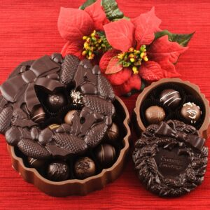 Chocolate Christmas Wreath Boxes
