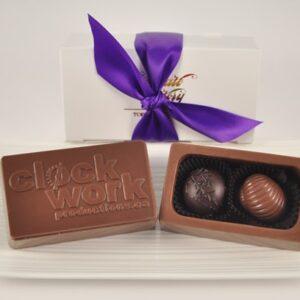 Customized Small Chocolate Logo Box