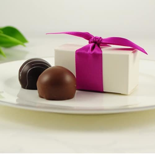 White Gift Box with 2 truffles